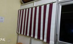 White And Red Stripe Vertical Window Blinds