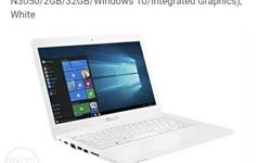 White Asus Eeebook 14 Inch Laptop not used.fresh.4month