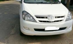 Toyota innova g4 white color with alloy wheels new tyre