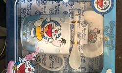White Doraemon Print Ceramic Mug