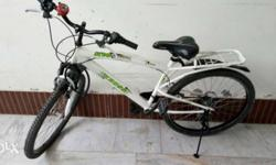 "22""White Hard Tail Bicycle with gher"