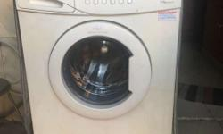 White Samsung Front Load Clothes Washer