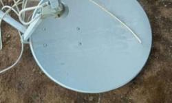 White Satellite TV Dish