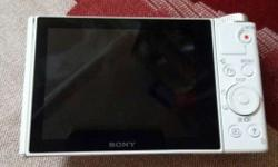 White Sony Point-and-shoot Camera
