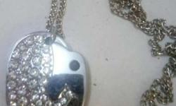 White stone elephant pendent with chain