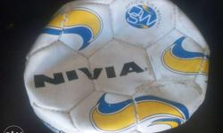 White Yellow And Blue Nvia Soccer Ball