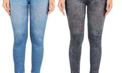 Whole sale ladies denim jeggings all size and free size