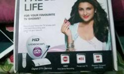 Videocon d2h hd 2month old but not use receiver remote
