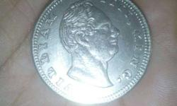 William king 1840 in one rupees silver coin
