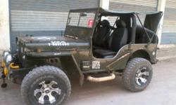 Willys Jeep 1968 model Modifyed Power stearing. Toyota