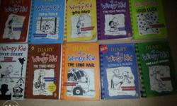 Wimpy kids 10 books for 1200 or 150 each. All in brand
