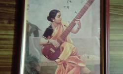 Woman Playing String Instrument Painting