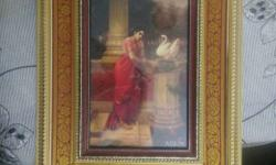 Woman Wearing Red Dress Painting