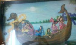Women Riding On Boat Painting