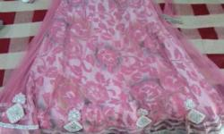 Women's Pink And Silver Dress