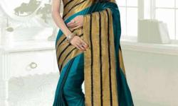 Women's Yellow And Green Saree