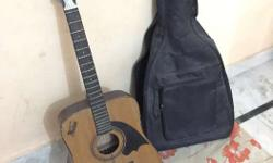 Wood Guitar unused, very good condition, with cover bag