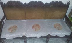 Wooden 5 seater sofa in good condition at affordable