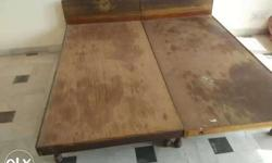 Wooden bed without box in good condition Available in