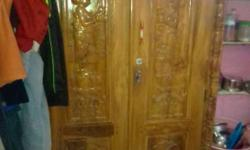 wooden beerow with safety lockers good condition