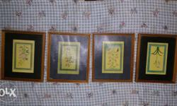 Wooden Flower Photo Frames, 13 inches by 11 inches