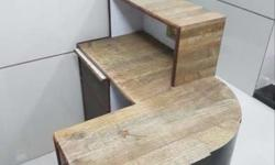 wooden reception table can be used in clinic