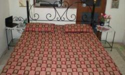 wrought Iron Bed With Black Smith Work Just Rs. 14000