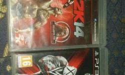 WWE 2K14 And WWE 13 PS3 Game Cases