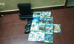 Xbox 4GB console with kinect sensor. With 2 xbox