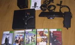 New Xbox 360 e 4gb model ( black color ) with 802.11n