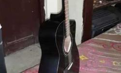 7 months old Yamaha FS 100 C Black Acoustic guitar with