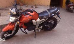 Orange color 2009 model Yamaha FZ, 38000Kms only. New