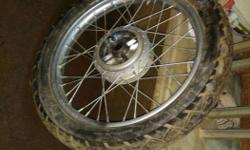 Yamaha RX tyre and rim