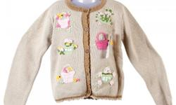 Type: Sweater YapaaBaby Sweet Girlish Flower Sweater