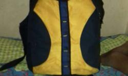 Yellow And Black Backpack