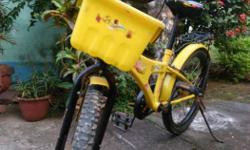 Yellow Bicycle With Basket