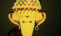 Yellow Red And Green Knitted Hanging Decor . Rs. 700